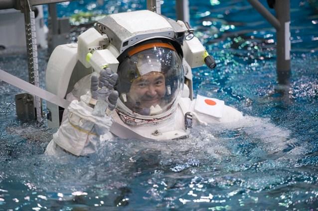 訓練の様子(JAXA/NASA)